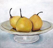 3 Pears on Compote by Tracey Boulton