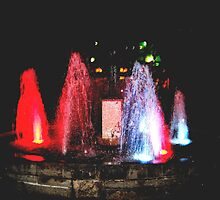 Niagara Falls fountain at night...! by sendao