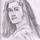 Indian lady by tanmay