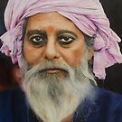 Indian man drawing by ishabrown