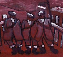 3 COAL MINERS by sword