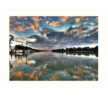 Sunrise on the Murray Art Print