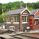 The Signal Box - Levisham Station by Trevor Kersley