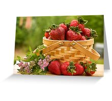 Strawberries Any one? Greeting Card
