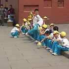 Chinese Kids on a School Trip by oluadams