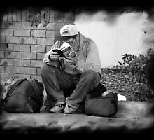 Street Life Two (Homeless Series - Orlando, FL) by Judith Hayes