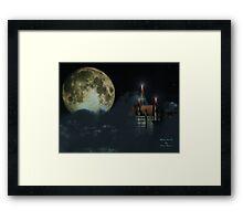 Moon Castle Framed Print