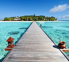Seascape on Maldives Island by sf2301420max
