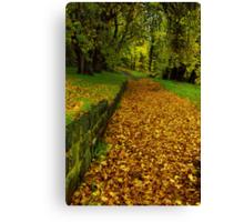 """""""Autumn Path"""" Canvas Print"""