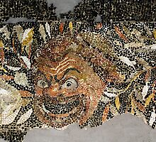 Household Mosaic, Delos Island, Greece by Christopher Biggs