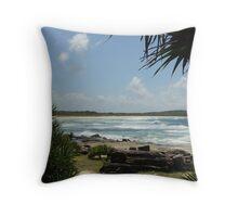 (12)-Back Beach Throw Pillow
