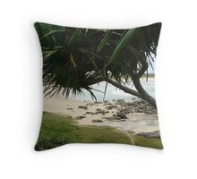 (14)-Back Beach Throw Pillow