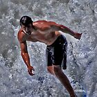 White water surfing--Ocean Beach CA by milton ginos