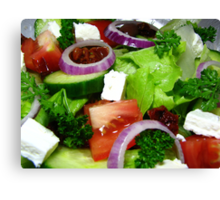Greek Style Salad Canvas Print