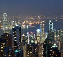 Hong Kong Skyline by Night by philcraswell