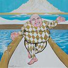 Harlequin Buddah by Rhinovangogh