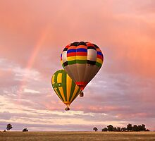 Balloons and rainbows 2 by Peter Hodgson