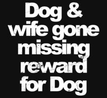 Dog and wife missing by huliodoyle