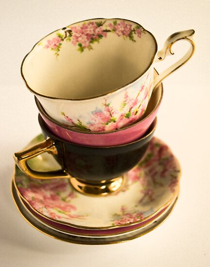 Tea-Cups by Kristi Robertson
