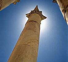 Ancient Greek columns in Jerash, Jordan by makedon