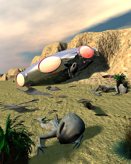 Roswell Like UFO Crash 3 by mdkgraphics