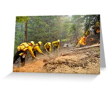 Fire Fight Greeting Card