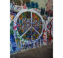 Prague's John Lennon Wall Photographic Print