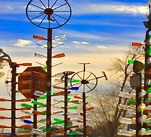 Route 66 Bottle Trees Hellendale Califionia by photosbyflood