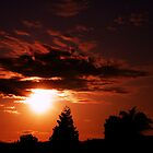 First sunset of June in Hollister CA by Jeff Brewster