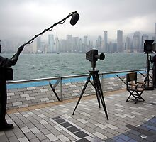 Avenue of the Stars, Hongkong Harbor. by John Mitchell