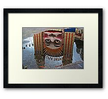 Luna Park Reflection Framed Print