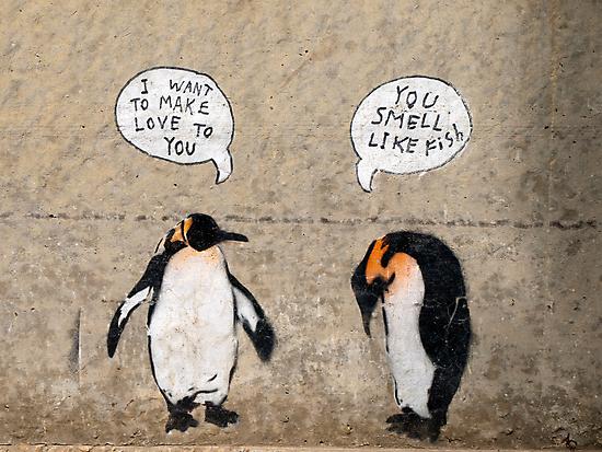 Penguin Graffiti by Myron Watamaniuk