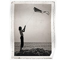 """""""The little girl with the kite""""  Poster"""