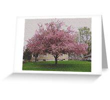 Visual Texture Crab Apple Tree Greeting Card