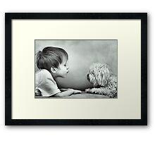 Puppy Kisses Framed Print
