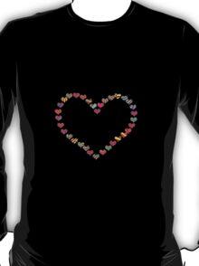 Candy Cane Heart T-Shirt T-Shirt