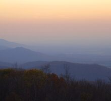 Autumn Dusk, Blue Ridge Mountains by Stephen Vecchiotti