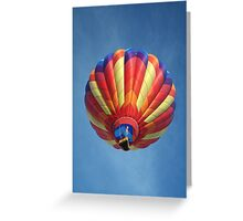 High flying balloon, turning up the burn! Greeting Card