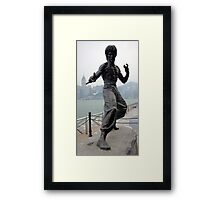 Statue of the Late Bruce Lee Framed Print