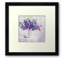 Faded Lilacs Framed Print