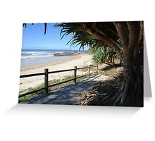 Over the boardwalk Greeting Card