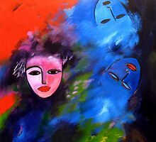 Party face, blue dreams by nelly  van nieuwenhuijzen