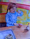 Having Dessert by Margaret Sanderson