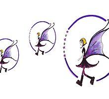 3 Goth Fairies by Kazzagloom