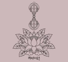 Lotus with Vajra and Om Mani Padme Hum Mantra by bodhicittatees