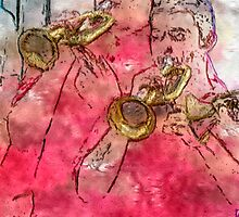 Trumpeters by Ladydi