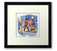 Dick and jane Trick or Treat Framed Print