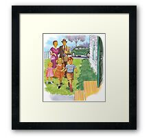 Dick and Jane Family Framed Print