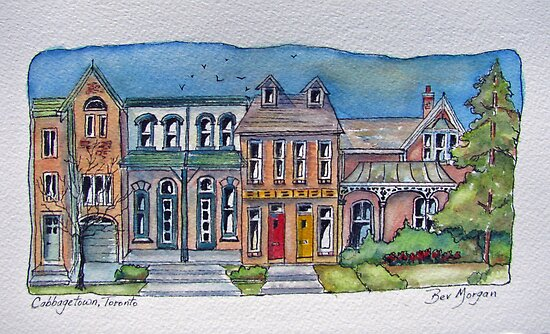 Homes of Cabbagetown, Toronto by bevmorgan