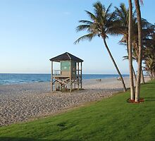 Morning Lifeguard Stand, Deerfield Beach by Craig Bernstein